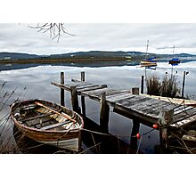 Row Boat on the Huon River Photographic Print