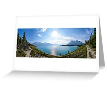Panoramic of lake in Icefields Parkway, Banff, Canada Greeting Card