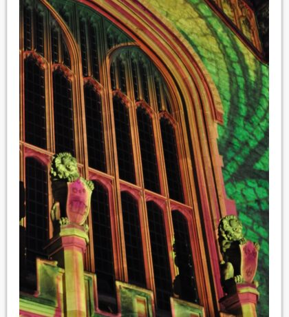 Northern Lights - Bonython Hall Lions, Sheilds and an Arch Sticker