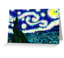 a scribbler starry night Greeting Card