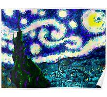 a scribbler starry night Poster
