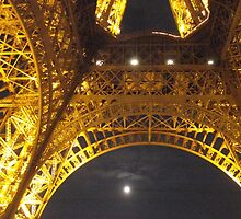 Paris eiffel tower by night by graceloves