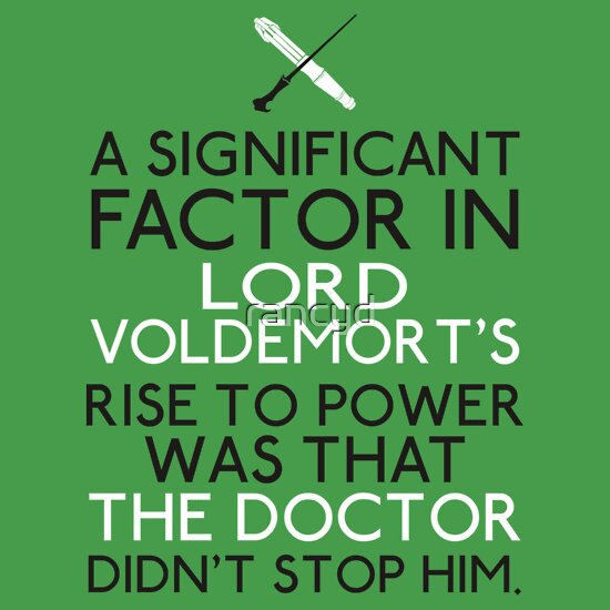 TShirtGifter presents: The Significant Factor of the Dark Lord was the Doctor