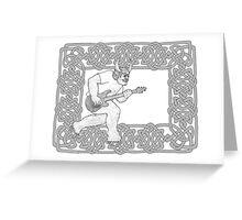 Minotaur Guitar Greeting Card