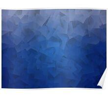 Blue Shapes Poster
