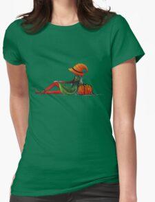 Halloween Girl Womens Fitted T-Shirt