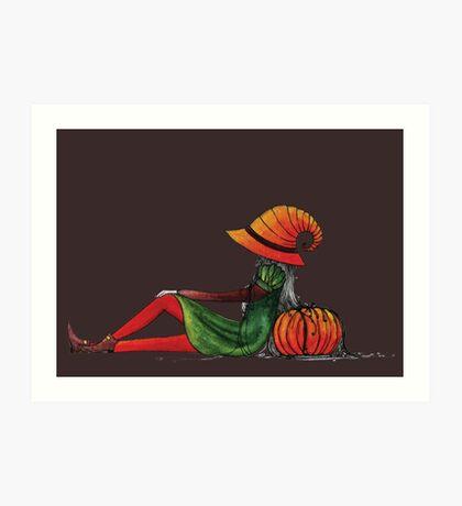 Halloween Girl Art Print