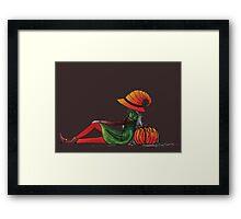 Halloween Girl Framed Print