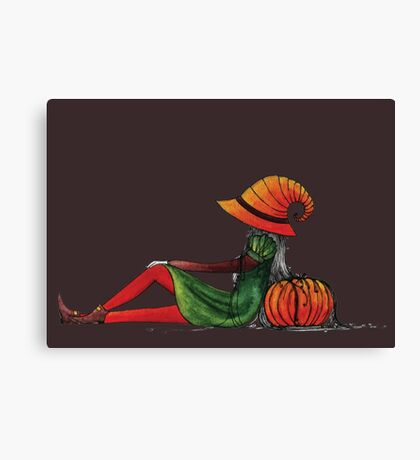 Halloween Girl Canvas Print