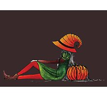 Halloween Girl Photographic Print