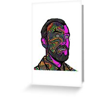 Psychedelic krieger Greeting Card