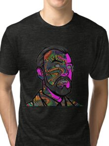 Psychedelic krieger Tri-blend T-Shirt