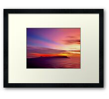 Eigg Evening Framed Print