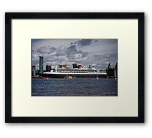 Queen Mary 2 pier head liverpool Framed Print