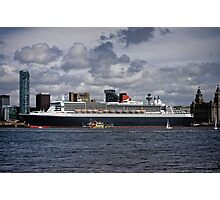 Queen Mary 2 pier head liverpool Photographic Print