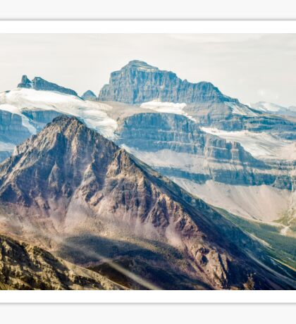 Aerial view of the Canadian Rockies in Banff Sticker