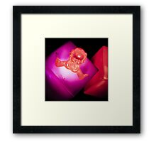 Flashing pink Baby Framed Print