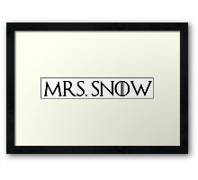 MRS. Snow Framed Print