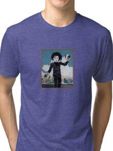 Edward Edward ScissorHands Hands Tri-blend T-Shirt