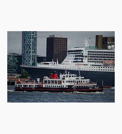 Queen Mary 2 Liverpool Pier head Photographic Print