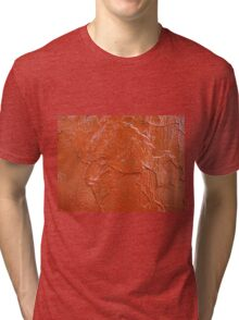 Thick and uneven layer of red paint Tri-blend T-Shirt