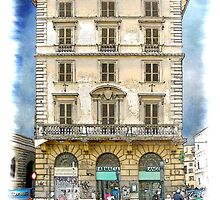 Pen and Wash Building (Digital) by Rookwood Studio ©