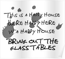 House of Balloons / Glass Table Girls Lyrics Highlight Poster