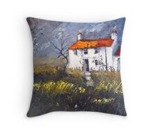 Moorland Cottage Throw Pillow