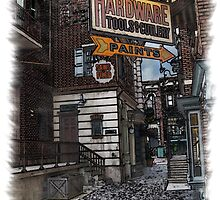 Pen and Wash Building - Hardware (Digital) by Rookwood Studio ©