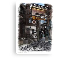 Pen and Wash Building - Hardware (Digital) Canvas Print
