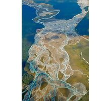 Aerial view of the Canadian Rockies Photographic Print