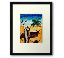 The old  tan walll #1, series, watercolor Framed Print
