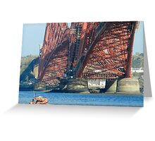 RNLI under the Forth Bridge! Greeting Card