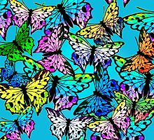 Butterfly Explosion by BettyChandler