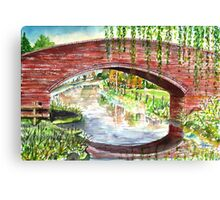Willow Bridge - Oxford Canal Canvas Print