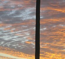 one lonely power pole welcomes the sun - North Queensland, Australia by myhobby