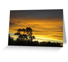 red sunset - Cardwell, North Queensland, Australia Greeting Card