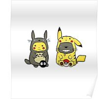 Suits Reverse - Pokemon and Totoro Poster
