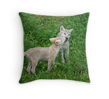 Saying Hello Throw Pillow