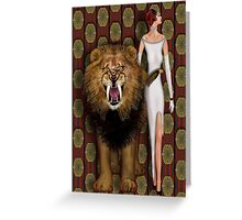 Alpha Male and the Pride Greeting Card