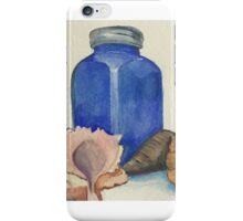 Blue Glass and Shells iPhone Case/Skin