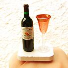 Wine Bottle and Wine Glass by souzoucreations
