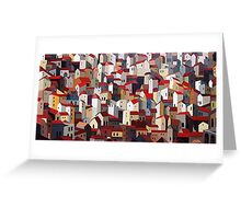 Urban Crowding Greeting Card