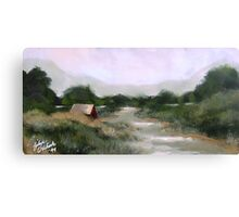 River Barn Canvas Print