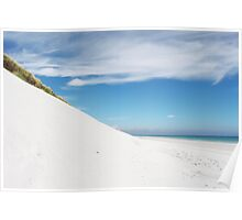 Sand dune and beach Poster