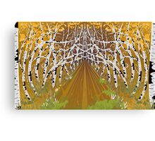 Psychedelic forest autumn highway Canvas Print