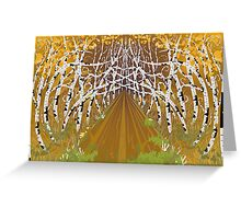 Psychedelic forest autumn highway Greeting Card