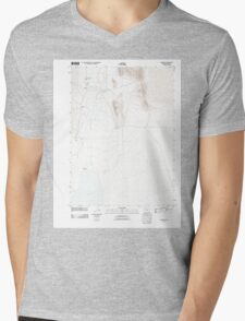 USGS Topo Map Oregon Andrews 20110818 TM Mens V-Neck T-Shirt