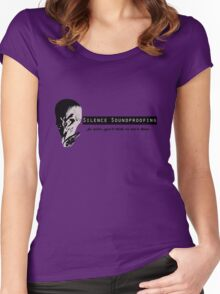 Silence Soundproofing Women's Fitted Scoop T-Shirt
