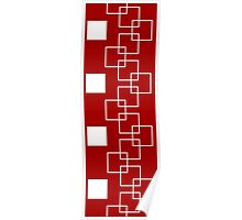Square Ladder Pattern Poster